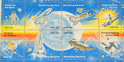 1981 sheet of stamps Space Shuttle Columbia Sc #1912-19 - Under Face Value!