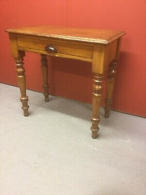 Antique Pine Side Table With Drawer Under Sn-391a
