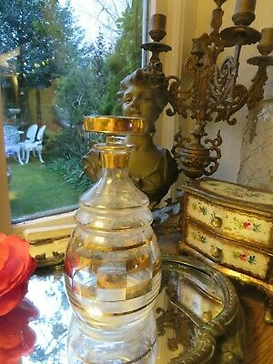 SUPER VINTAGE  FRENCH ART DECO GLASS  DECANTER FOR APERITIF ~ 1930's