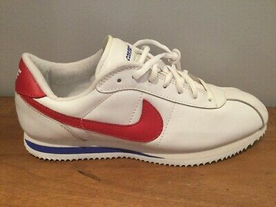 low priced 0bcb3 f967b Nike Cortez Anniversary Forrest Gum. Retro 80s. 304035-161 White Blue Red.