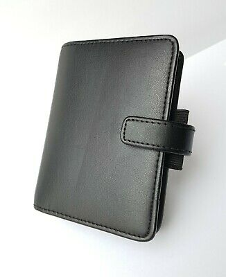 "Very Smart!~*mini*~Filofax~""identity""~Organiser~Black~Faux/pu~Vegan Friendly!"