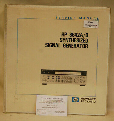 HP8642A/B Synthesized Signal Generator Service Manual