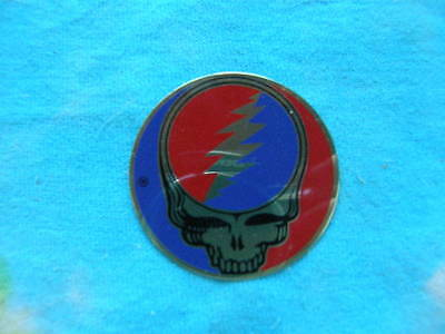 Grateful Dead 1 1/2 inch Steal Your Face SYF Metal Sticker