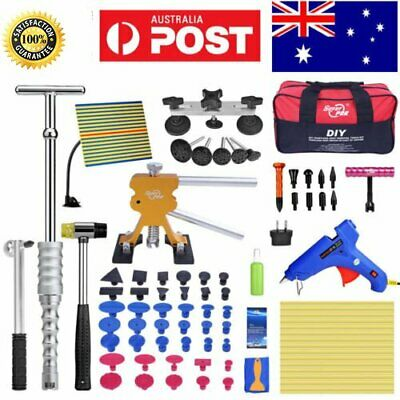 78 Paintless Dent Removal Puller Lifter PDR Tools T Bar Line Board Damage Repair