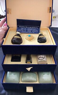 RARE 1950's ESTEE LAUDER YOUTH DEW SOVEREIGN COLLECTION PERFUME 10 PIECE SET