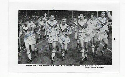 Multi Signed 1963 Wakefield Trinity Rugby League Cup Winners Pictures England