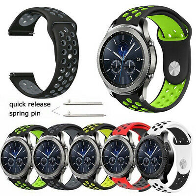 Sport Silicone Band Watch Bracelets For Samsung Gear S3 Frontier/Classic 22mm