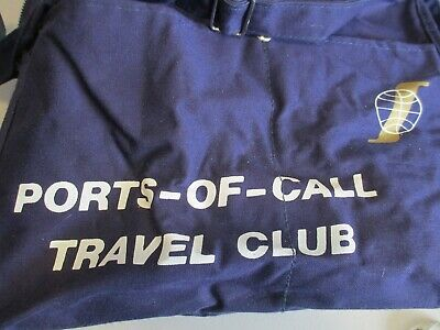 Ports of Call Travel Club Carry On Bag Luggage Defunct Airline Day Pack Travel