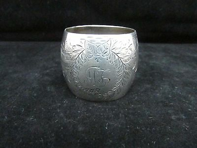 """Antique English """"Mappin & Webb"""" Sterling Silver Napkin Ring - Sheffield 1911"""