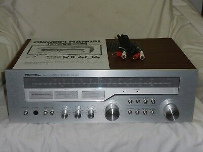 Vintage Rotel RX-404 AM/FM Stereo Tuner Receiver