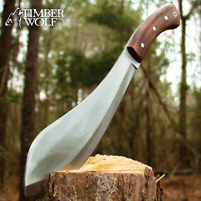 """15 3/4""""TIMBER WOLF High Carbon Steel Kukri Full Tang Survival Knife with sheath"""