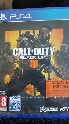 Call Of Duty Black Ops 4 - Mysterl Box Edition PS4 Game +Pass & More New Sealed