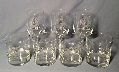 Vintage 1987 Bar Wine Glass Set Governor BILL CLEMENTS Texas State Inauguration