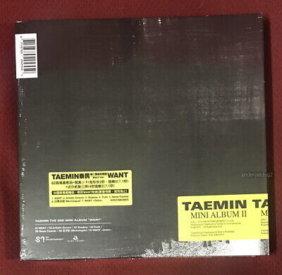 SHINee Tae Min Mini Album Vol.2 WANT Taiwan Special CD+Card (Want Ver.) TaeMin