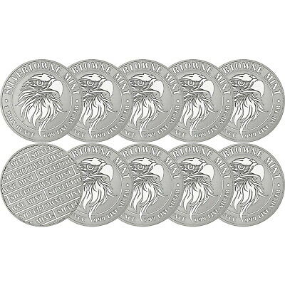 NEW! SilverTowne Mint Mighty Eagle 1oz .999 Silver Medallion 10pc