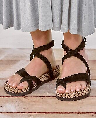 f1e58080249d TOMS CALIPSO WOMEN S Gladiator Sandal Black Suede Shoes -  39.99 ...