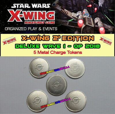 STAR WARS X-WING 2.0 - DELUXE WAVE 1 2018 - 5 Metal Charge Tokens