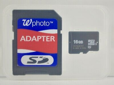 MicroSDHC Flash Memory Card- Micro SD Card 16 GB with Adapter W Photo US Seller