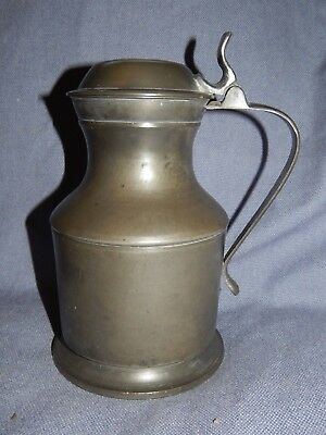 "LARGE ANTIQUE VICTORIAN "" LONDON PEWTER "" GEORGIAN STYLE FLAGON ~ 19thC"
