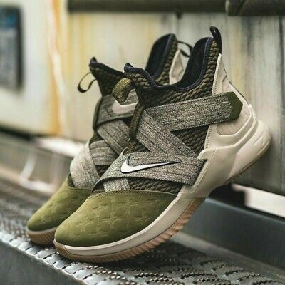 d33f00c1260 Nike Lebron Soldier XII 12 Men s Basketball (8 - 13.5) Olive   Gum AO2609