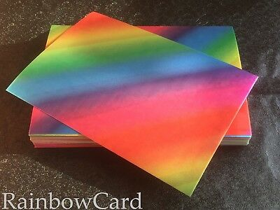 10 Sheets - Rainbow A4 Crafting Card 390 Gsm