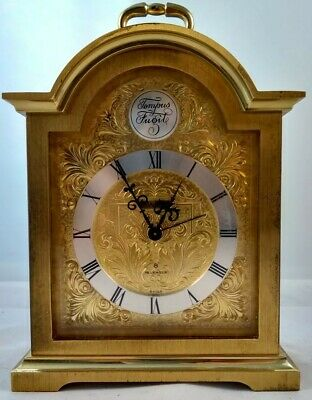 Vintage Swiza Tempus Fugit Brass Carriage Mechanical Mantle Alarm Clock