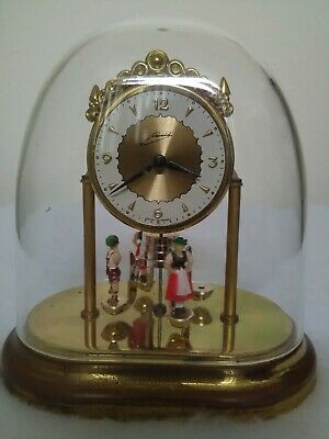 Vintage Schmid West Germany Anniversary Oval Dome Wind-Up Clock