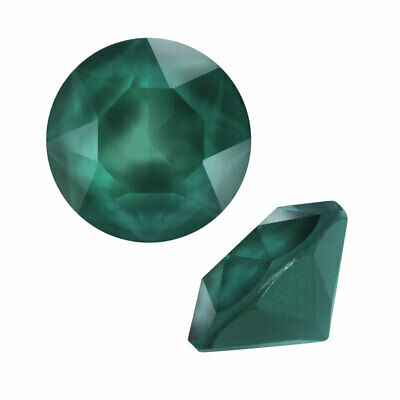 Swarovski Crystal, #1088 Xirius Round Stone Chatons ss29, 12 Pieces, Royal Green