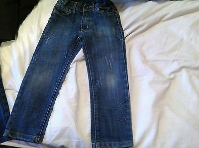 Boys tu skinny jeans aged 5 years 110cm very nice used pair