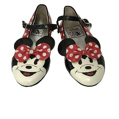 48261521bda5 Vintage Minnie Mouse Disney Kids Girls Shoes Size 9 Polka Dots Black Red  Girl s