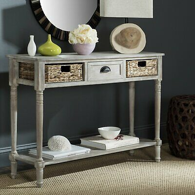 Console Table for Entryway with 3 Drawers Organizer Storage Contemporary Antique