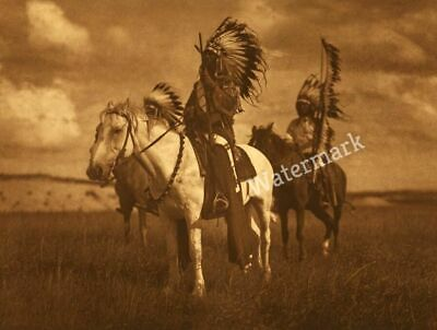Vintage Sioux Chiefs On Horseback Circa 1905 By Edward S. Curtis Publicity Photo