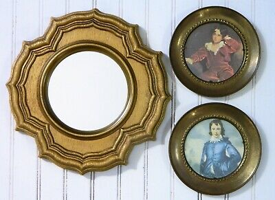 Wall Art Collage/Gallery/Brass Plates/Gold Ornate Mirror/Cottage/BoHo Chic/ 3