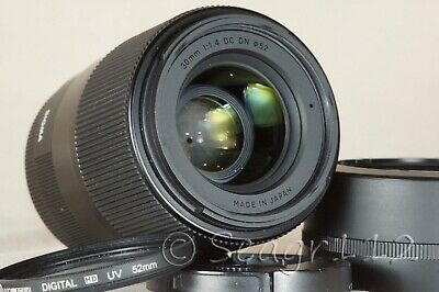 """Sigma 30mm f/1.4 DN Contemporary """"C"""" Lens for Sony E Mount - MINT w/ UV"""