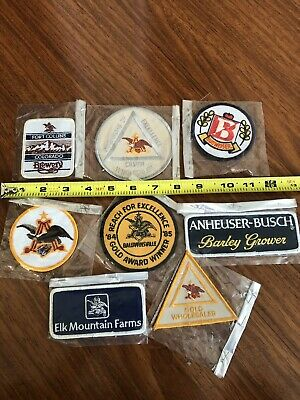 Various RARE collectors Bud Budweiser Patch set (8)