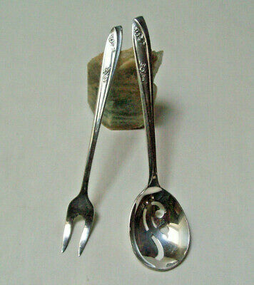 Wm Rogers IS Silverplate 1957 LADY FAIR  SHORT PICKLE OLIVE FORK & RELISH SPOON