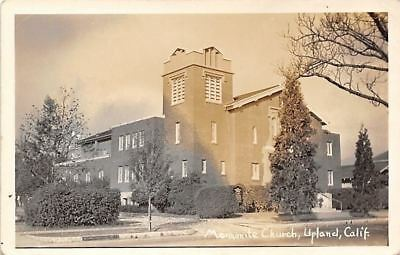 Upland California~Mennonite Church~1940s Real Photo Postcard~RPPC