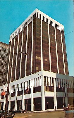 Cleveland OH~Investment Plaza Building~East 9th Street~1960s Cars~Postcard