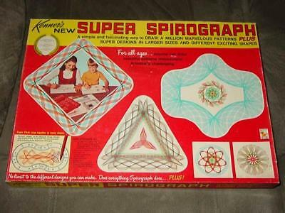 Vintage Kenner - Super Spirograph game  -  Complete Very Nice Contents - Set #6