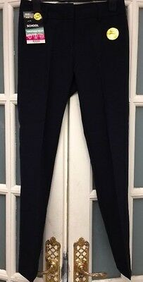 Bnwt Bhs School Navy Trousers Adjustable Waist Age 12 Yrs