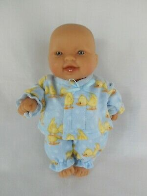 Handmade dolls clothes (Blue Winter Pyjamas) to fit 20cm, 8 inch Berenguer doll