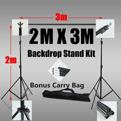 2x3M Photo Video Studio Backdrop Photography Background Support Stand Frame KIT