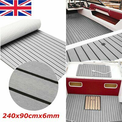 EVA Self Adhesive Foam Faux Teak Sheet Boat Marine Yacht Floor Decking Mat 240cm