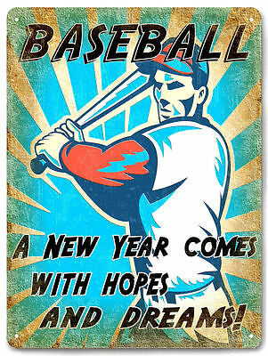 BASEBALL metal sign spring training SPORTS vintage style collectible gift  643