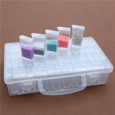 64 Slots Diamond Painting Accessories Box Embroidery Case Geometric Holder Kit