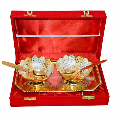 Silver Plated Brass Wine Goblet/Wine Glasses Set of 2 Pcs With Box Packing