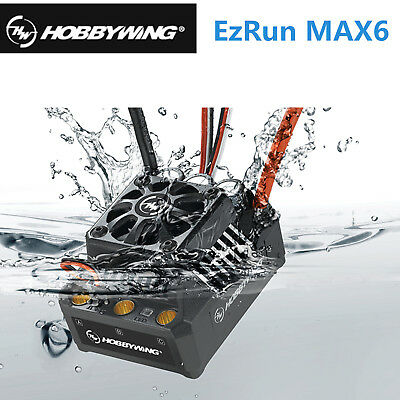 Hobbywing EzRun MAX6 160A Brushless ESC BEC Waterproof for 1/6 1/7 1/8 Buggy Car