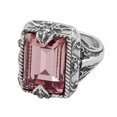 D195 ~ Sterling Silver & Swarovski Medieval Cocktail Ring
