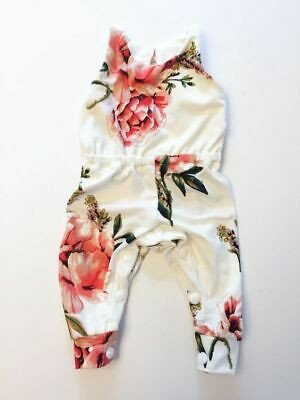 Summer Newborn Kids Baby Girl Clothes Flower Romper Jumpsuit Outfits Sunsuit New