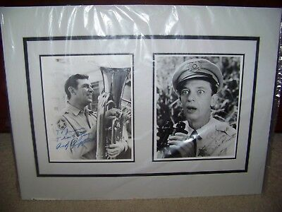 The Andy Griffith Show: Andy Griffith & Don Knotts SIGNED 8 x 10s Matted Display